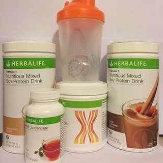 Herbalife Formula 1 & 3 Nurtritional Milk Shake