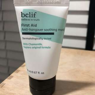 Brand New Belif First Aid Anti Hangover Soothing Mask