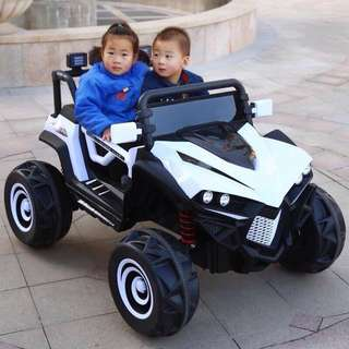 White 2 Seater 588 Hummer Rechargeable Ride On Truck Toy Car