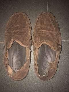 Men's Brown Crocs Santa Cruz Sandals