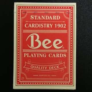 全新絕版紅色Quality Bee撲克牌