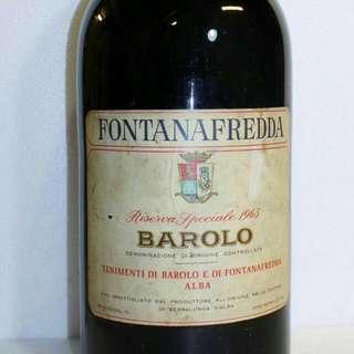 💎💎堪稱紅酒界的巨炮💎💎 意大利FONTANAFREDDA Barolo Riserva Speciale 妃泉 巴鲁奴珍藏特级 1965 年 12.5公升 1支@HK$17000 💘💘你沒看錯,是1⃣2⃣.5⃣公升