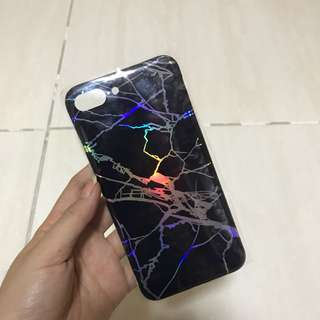 Case iphone 7+ marble hologram