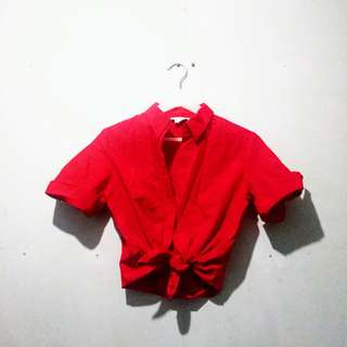Zara Red Polo