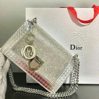 Diorama Shoulder Bag Silver Color