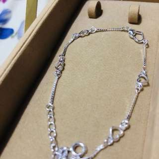 Authentic Italy Silver - Heart Bracelet