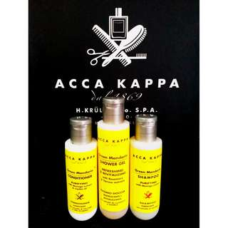 Acca Kappa 3 In 1 Green Mandarin Shower Gel Shampoo Conditioner Travel Size
