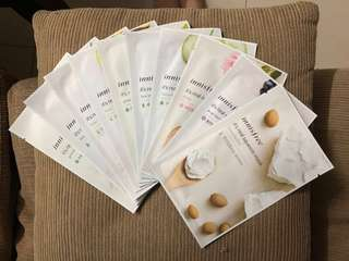 10 pieces Innisfree Sheet Mask