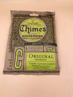 美國直送 全新Chimes Original Ginger Chews (5oz 141.8g)