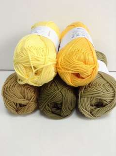 Mercerized Cotton Yarn (choose your colours)