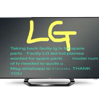 Taking back faulty LG tv