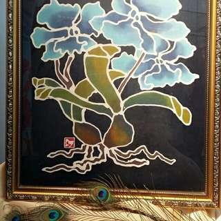 Antique Batik Cloth Painting