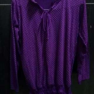 Baju ungu lucu