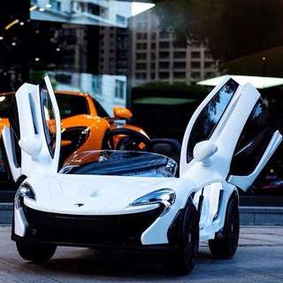 White Electric McLaren P1 Rechargeable Ride On Toy Car