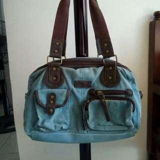 Denim bag with multiple pockets