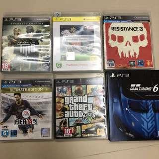 PS3 6遊戲 4手制
