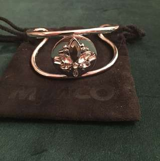 Mimco Silver & Bling Open Cuff Bracelet