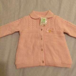 Kingkow pink knit jacket with fleece