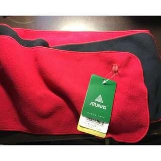 ATUNAS 保暖 紅黑 雙色圍巾
