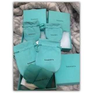 Tiffany&co 包裝盒 紙盒 絨布袋 套組