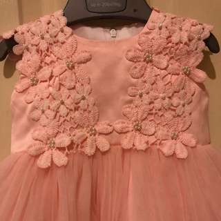 Aqiqah peach dress