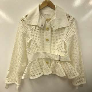 Sacai Luck white see through top size 1