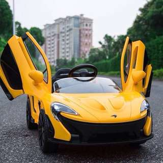 Yellow Electric McLaren P1 Rechargeable Ride On Toy Car