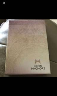 Brand New In Box Sealed Hilton Hhonors Hotel Deck Of Cards playing cards