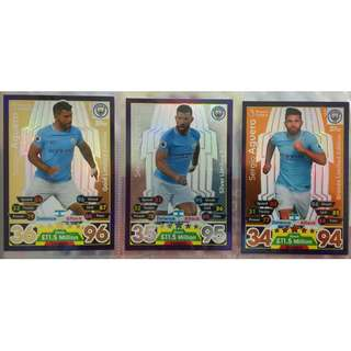 (BW) Match Attax 17/18 Sergio Aguero Limited Edition 1 Set