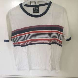 T-BAR x COTTON ON: Striped Ringer Tee