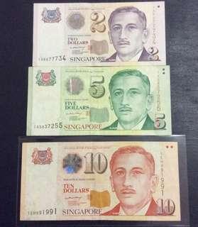 $2 $5 $10 Portrait Paper