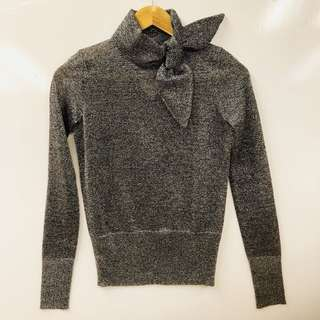 Isabel marant metallic gray sweater size 36