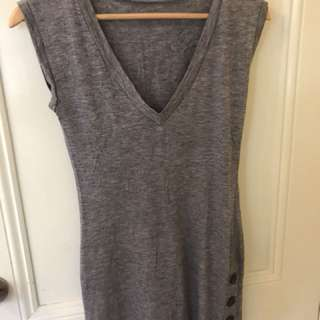 Cooper st grey dress with buttons on the side - size 8