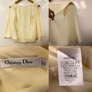 Nearly New Christian Dior cream white vest size I 38