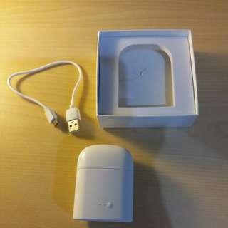 99%新  無綫双耳立体声音樂耳机 (白色) , 如圖
