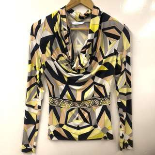 Pucci colors sweater top size XS