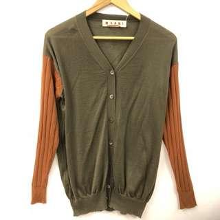 Marni cashmere brown cardigan size 40