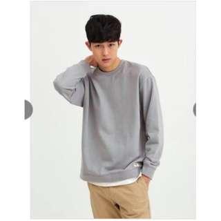 GIORDANO Sweater Urban Life Style Giordano Grey