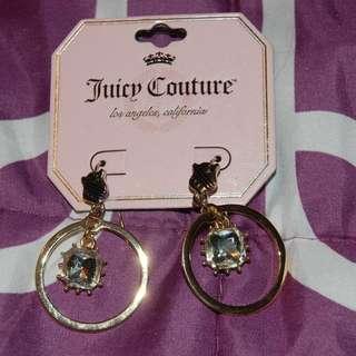 JUICY COUTURE Gold Tone Hoop Earrings