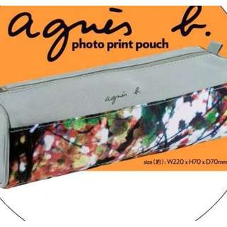 全新 agnes b. Photo Print Pouch 萬用袋/化妝袋