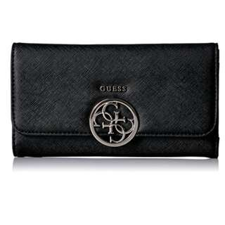 [全新] GUESS Black wallet 銀包