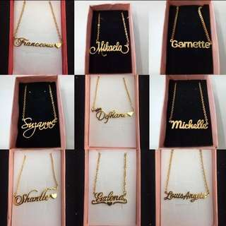18KARAT SAUDI GOLD NAME NECKLACE