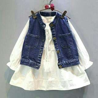 Kid dress lisa putih