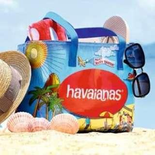 全新 havaianas 防水超大沙灘袋