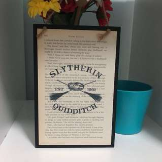 HARRY POTTER SLYTHERIN QUIDDITCH POSTER