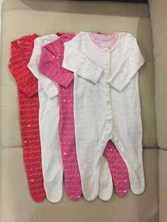 MOTHERCARE Long Sleeve Sleepsuit with booties