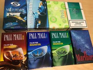 Cigarette Boxes 1990's (Collectors Items)