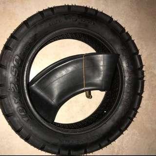 v- mart tyre and tube 10x2.5