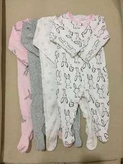 MOTHERCARE Long Sleeve Baby Sleepwear with Booties