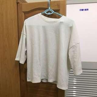 🚚 白色針織上衣 七分袖 #正韓